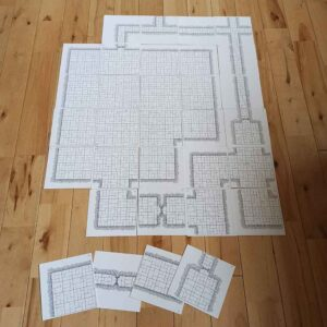 Hand Drawn OSR Dungeon Tiles (double sided) – Room & Corridor MEGA Pack (x32)