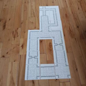 Hand Drawn OSR Dungeon Tiles (double sided) – Corridor BUMPER Pack (x16)