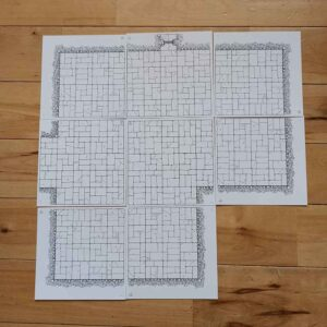 Hand Drawn OSR Dungeon Tiles (double sided) – Room Starter Pack (x8)